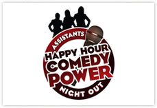 Happy Hour Comedy Power Logo Design